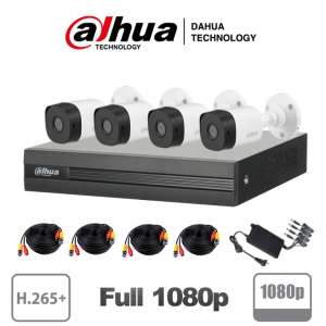 XVR1B04HKIT DAHUA COOPER KIT 4 CANALES 2MP/ 1080P/ H.265+/ 2 CH