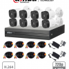 XVR1A08KIT DAHUA COOPER Kit 8 canales 1MP / 8 Camaras B1A11 1MP/