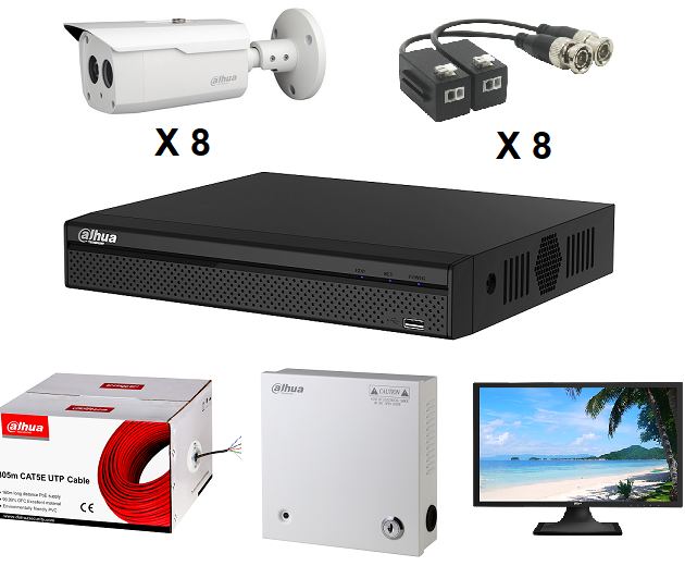 DPP8CH1080P KIT CCTV DAHUA 8CH 1080P/ GRABADOR XVR5108HSS2 1080P