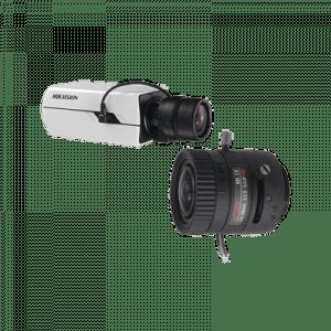 DS2CE37U8TASYS SYSCOM Kit de Camara Hikvision Box 4K y Lente 4K