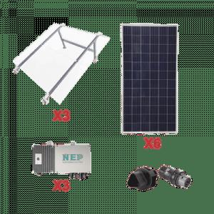 KIT3BDM600POLI EPCOM Kit Solar para Interconexion de 1.65 KW de