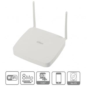 NVR2108-W-4KS2 DAHUA NVR WiFi de 8 Canales 4k/ 2.4 GHz/ 2 Antena
