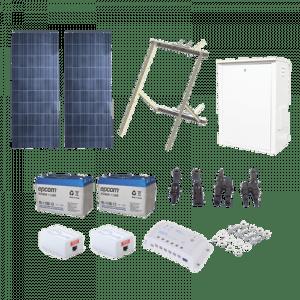 PL-1224G-2R EPCOM POWERLINE Kit Solar de 17 W con PoE Pasivo 24