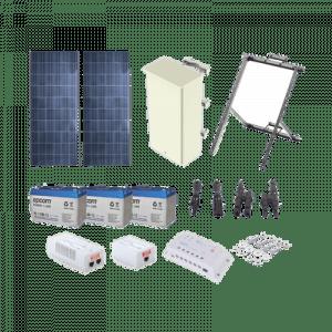 PL1224GRC SYSCOM Kit Solar de 24 W con PoE 802.3af y PoE Pasivo
