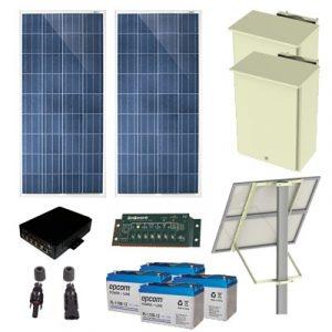PL-4POE-25 EPCOM Kit Solar de 25 W con 4 Puertos PoE 802.3af/at