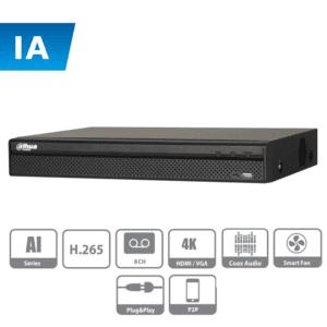 XVR5108H-I DAHUA DVR de 8 canales con IA / 5MP N / 4MP N / 1080p