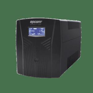 EPU1200LCD EPCOM POWERLINE UPS de 1200VA/720W / Topología Línea Interactiva / Entrada y Salida 120 Vca / Regulador de Voltaje AVR 80-150 Vca