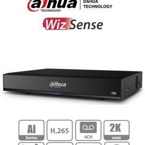 XVR7104HE-4KL-I DAHUA DVR de 4 Canales 4k con Inteligencia Artificial/ H.265+/ 2 Canales de Reconocimiento Facial/ Protección Perimetral
