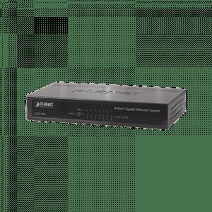 GSD-803 PLANET Switch no administrable 8 puertos Gigabit 10/100/1000Mbps, Con Ahorrador de Energia