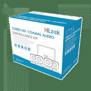 Kit HL1080PS HILOOK mirofono TurboHD 1080p Lite / DVR 4 canales