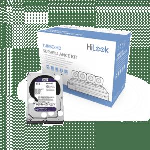 HL24LQKITS-M/1TB HILOOK KIT TurboHD 1080p / DVR 4 canales / 4 Cámaras Bala de Metal